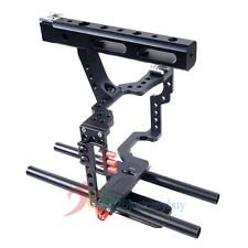 15mm Aluminum Rod Rig Micro Camera Video Cage+Top Handle Grip for Sony for Canon