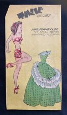 Tillie the Toiler, Sunday Funnies Paper Doll, 1948, Uncut Newspaper Section