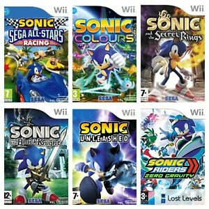Wii - Sonic   Colours   Secret Rings   Racing   Choose Your Game Multi-Listing