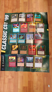"1999 MTG Magic the Gathering Classic Cut 99 Store Promo 27""x36"" Poster POS"