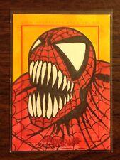 Spider Venom  Spider-Man Archives color sketch card 1/1 Randy Martinez
