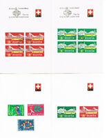 Switzerland Post Stamps PTT Lot of 49 Postal Cards 1937-1966 PreCancelled MXF