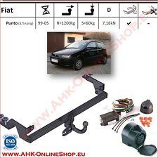 Gancio traino Fiat Punto II Hatchback 1999-2005 + elettrico 13-poli OMOLOGAZIONE