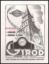 Publicité horloge GIRORD Morbier  vintage  1948 - 10i