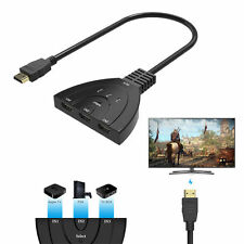 HDMI Switch Umschalter Splitter Verteiler Kabel Adapter 1080P Full HDTV 3 Port