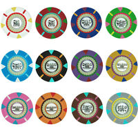 NEW 400 PC Monaco Club 13.5 Gram Clay Poker Chips Bulk Lot Mix or Match Chips