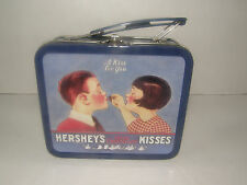 "HERSHEY'S KISSES TIN LUNCH BOX ""A KISS FOR YOU"" BOY AND GIRL 5.5"" X 5"" X 2.5"""