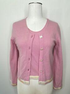 Vintage Pale Pink Cardigan Sweater Twin Set