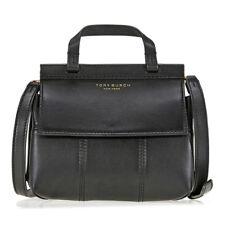 Tory Burch Block-T Mini Leather Satchel - Black