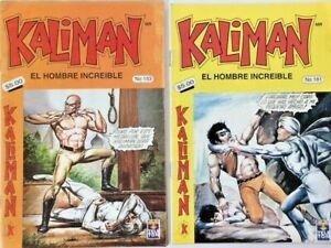 2 Kaliman El Hombre Increible Spanish Comics 153 and 161 Paquitos Mexico