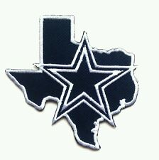 """Dallas Cowboys (Map) Embroidered 3 1/8"""" Iron Or Sew On Patch"""