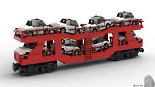 PDF-Bauanleitung: DB Kfz Transportwagon aus Noppensteinen, u.a. Lego