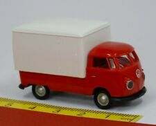 VW T1b Bulli mit Kofferaufbau Pritsche rot - Brekina 32450