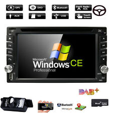"""HD 6.2"""" Double 2 Din Car Stereo Radio CD DVD Player Bluetooth In Dash GPS+Camera"""