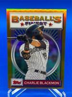 CHARLIE BLACKMON 2020 TOPPS FINEST FLASHBACKS GOLD REFRACTOR 6/50 ROCKIES #6