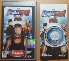 SMACK DOWN RAW 2008 Platinum - PSP Sony - PAL ESPAÑA - COMPLETO