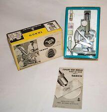 1966 TASCO 300 POWER MICROSCOPE MODEL 300XM JUNIOR & ORIGINAL BOX