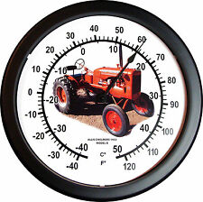 """New 1953 Allis Chalmers Model B Tractor Thermometer Massive 14"""" Round 3/4 View"""