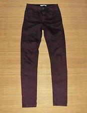 jean slim ACOTE en coton/elasthanne bordeaux nuancé noir taille 0 ou 36 fr