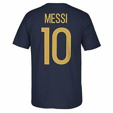 adidas Lionel Messi Argentina World Cup Player Name and Number Tee Adult Large