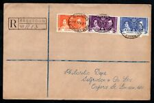 Sierra Leone - 1937 KGVI Coronation Registered First Day Cover