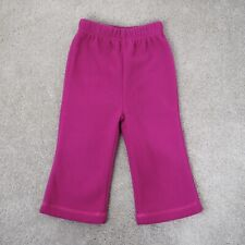 Jojo Maman Bebe Polarfleece Bootlegs Size 6-12 Months Raspberry Pink Trousers
