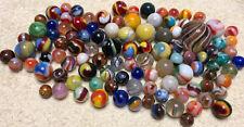 100+ Vintage Antique Glass Marbles Mixed Akro Agate Peltier German Swirls Lot