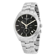 Tissot PR 100 Chronograph Black Dial Stainless Steel Mens Watch T1014171105100