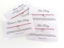 Hen Party Wish Bracelet Personalised Set Of 6