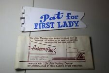 PAT FOR FIRST LADY - ANTENNA FLAG W/ ORIGINAL PACKAGING 1960 NIXON