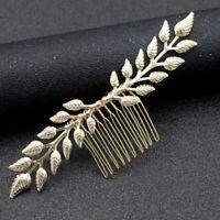 Brautblatt Haar Kamm Metall Kopfschmuck Hochzeit Stirnband HaarschmuckYE