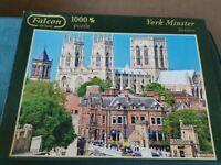 Falcon De Luxe York Minster Lendal Bridge 1000 Piece Jigsaw Puzzle Complete