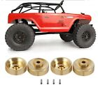 1/24 RC Brass Metal Hubs Wheel Weights for Axial SCX24 4 Piece Set