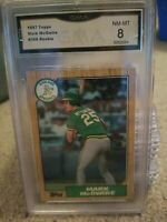 1987 Topps Mark McGwire GMA NM-MT 8  #366 Oakland Athletics