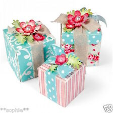 NEW ✿ Treat Gift Box & Labels Die ✿ 5 Dies ✿ For Cuttlebug & Sizzix ✿