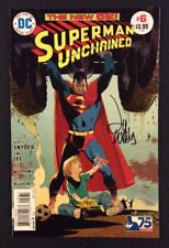 SUPERMAN UNCHAINED #6 Comic Book SIGNED LEE WEEKS 1:50 Retailer Variant DC 2014