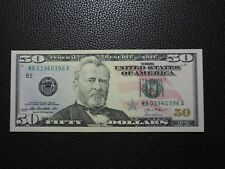 2013 $50 US DOLLAR BANK NOTE MB 03960396 A REPEATER  NOTE USD CU