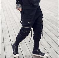 Gothic Mens Loose Punk Harem Pants Zipper Hip-hop Casual Trousers Cotton Stylish
