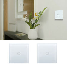 Wireless Wall Panel Smart Touch Light Lamp Switch 1Gang 1Way Remote Control Hot