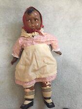 "1930's Rare Grumpy Effanbee black doll 24"""