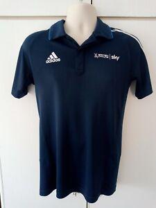 Adidas Sky British Cycling Shirt Size M Medium (38/40) Blue Polo Shirt