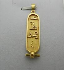 14k Yellow Gold Estate Egyptian Symbols/Hieroglyphics Pendant 3.9 grams