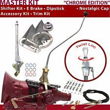TH350 Shifter Kit 23 Swan E Brake Cable Clamp Trim Kit Dipstick For DEC3C auto