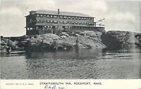 Rockport Massachusetts~Straitsmouth Inn on the Rocks~1908 Postcard