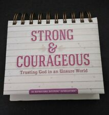 Strong Amp Courageous Inspirational Calendar For Trusting God In An Unsure World