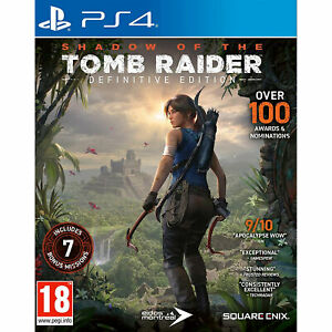 Shadow of the Tomb Raider Definitive Edition (PS4) Lara Croft New and Sealed
