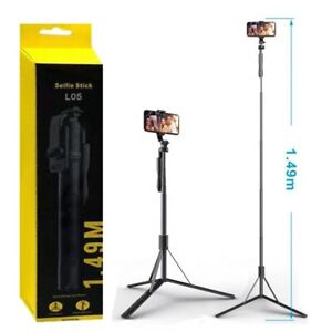 150cm Long Selfie Stick Tripod Stand with Wireless Remote For Mobile Phone Gopro