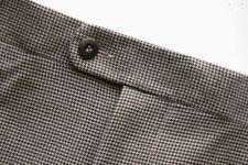 Zanella Alter Men's Brown Houndstooth Wool Dress Pants Slacks Trousers 32W x 31L