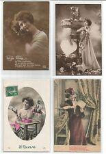 fantaisie 4 cartes postales anciennes CPA /cp650