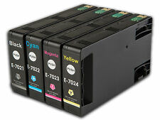 4 T702 non-OEM Ink Cartridges For Epson WorkForce Pro WP-4525DNF WP-4535DWF